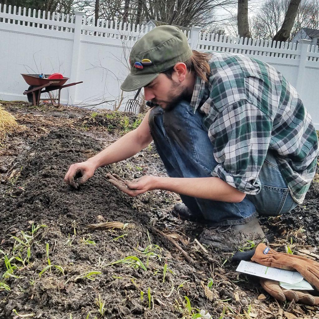 Jay planting carrots